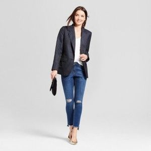 Navy and Gold boyfriend Blazer
